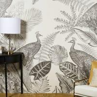 PAONA - Ongeweven behangpapier met pauwenprint 192 x 300 cm