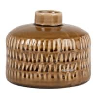 SAVINA - Set of 2 - Orange stoneware vase H11cm