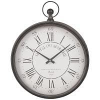 Orologio da taschino in metallo nero 41x51 cm Hotel Du Marche