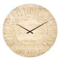 Orologio in abete inciso, 120 cm Louvain