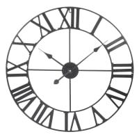 Orologio in metallo nero 60 cm Mécano