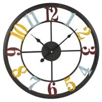 FERNAND - Orologio multicolore in metallo 45 cm