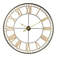 Orologio nero in metallo 120 cm La Vallière