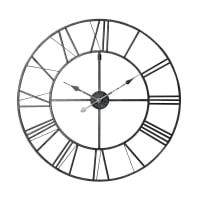 Orologio nero in metallo 80 cm Factory