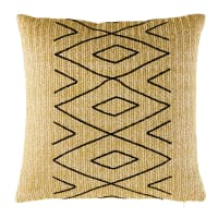Outdoor Cushion with Black Graphic Motifs 50x50