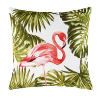 Outdoor Cushion with Pink Flamingo Print 50x50