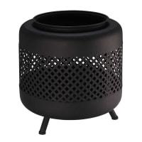 CARACAS - Outdoor-Feuerstelle aus schwarzem Metall mit Lochmuster