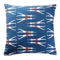 Outdoor-Kissen, blau und bedruckt mit Schwimmerinnen 45x45 Willy