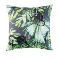 MIRI - Outdoor-Kissen, grün, bedruckt mit Dschungelmotiv 45x45