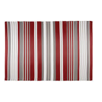 Outdoor-Teppich aus rot und weiß gestreiftem Stoff 180x270 Espelette