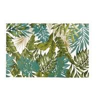 Outdoor-Teppich bedruckt mit tropischem Motiv 155x230