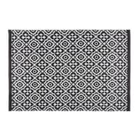 Outdoor-Teppich mit schwarzen und weißen Motiven 140x200 Corolia