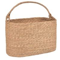 Oval plant fibre basket
