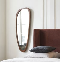 ELVI - Ovaler Spiegel aus Eichenholz, 60x141cm