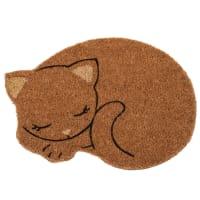 Paillasson chat en fibre de coco 48x34