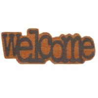Paillasson welcome en fibre de coco 35x90