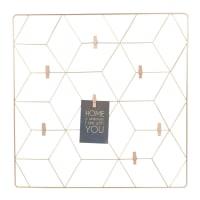 GRAPHIC - Painel de metal dourado 60x60
