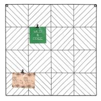 ASHTON - Panel multifotos de metal negro 60x60 cm