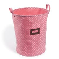 Panier à linge en coton rose Lilas