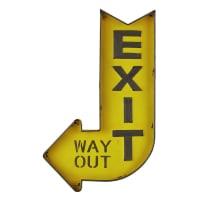 Panneau en métal jaune 50x81 Exit