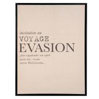EVASION - Pannello in lino con messaggio, 50x65 cm