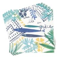 VILLA MEDITE - Set aus 2 - Papierservietten, bedruckt mit maritimem Motiv