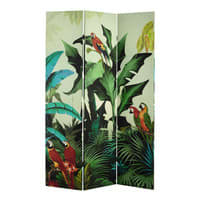Paravent imprimé tropical L 121 cm Santana