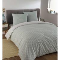Parure da letto blu in cotone 220 x 240 cm Kimono