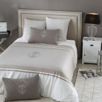Parure da letto in cotone con motivi a righe, 240x260