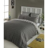 Parure de lit 220 x 240 cm en coton grise Maloni