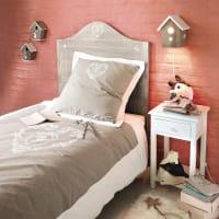 Parure de lit en coton beige 140x200 Camille
