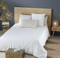 Parure de lit en coton blanc 240x260 Exochic