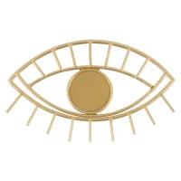 Patère œil 1 crochet en métal doré