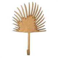 Patère palmier 1 crochet en métal doré