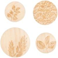 LINA - Patères en pin gravé (x4)