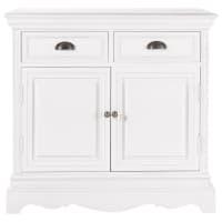 Paulownia wood sideboard in white W 86cm Joséphine
