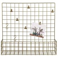 Pêle-mêle rangement mural en métal doré 50x45 Garden