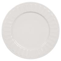Piatto piano bianco in porcellana Charlotte