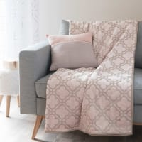 Pink Blanket with Graphic Motifs, 150x200 Leslie