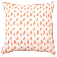 Pink Cotton Cushion Cover with Watermelon Print 40x40
