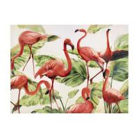 Pink  canvas 90 x 120cm Flamingo