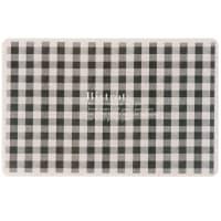 LOUISON - Set van 6 - Placemat met zwarte en beige vierkantjes