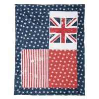 Plaid en coton imprimé drapeaux 130x160 Britain