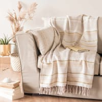 Plaid en coton motifs à rayures 160x210 Tergit