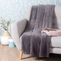 Plaid morbido grigio ardesia 150 x 230 cm Chaleur