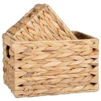 Plant fibre baskets (x2)