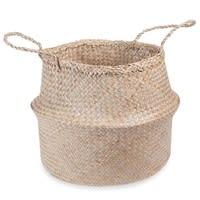 Plant fibre collapsible rice basket H40 cm