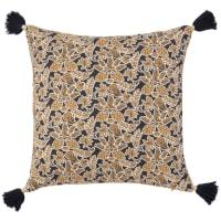 DUMAI - Plant-motif organic cotton cushion cover 40x40cm