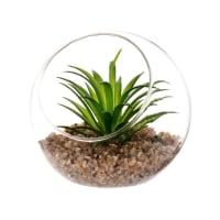 Lot de 2 - Plante artificielle et boule en verre