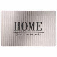Plastic placemat met streepjesmotief Home